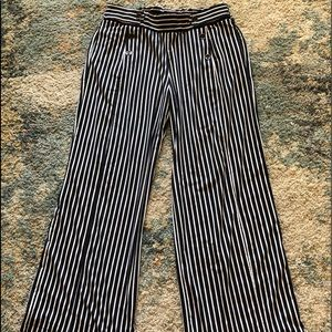 Robert Louis black and white striped palazzo pants